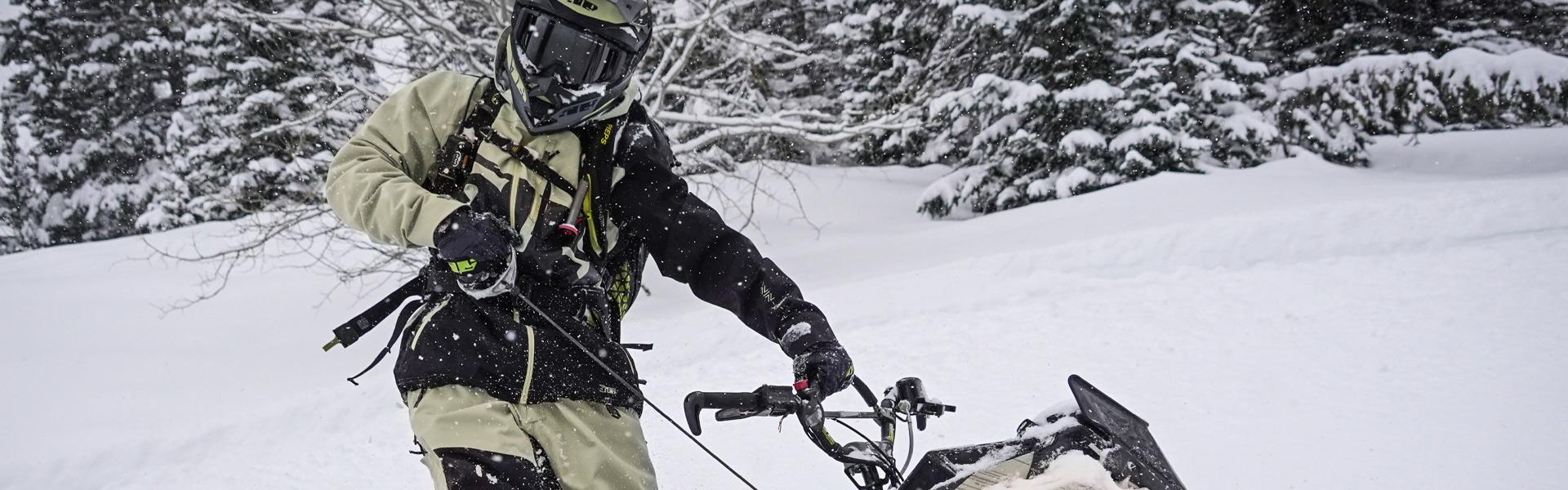 509 Khaki Evolve Jacket Shell Starting Snowmobile