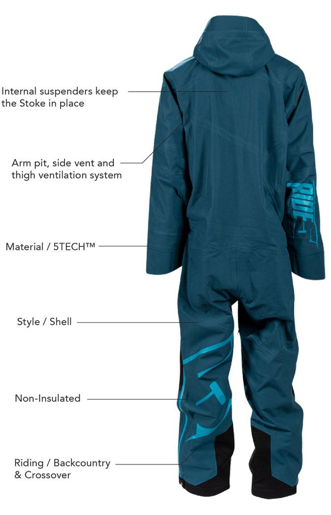 509 Stoke Mono Suit Shell Details